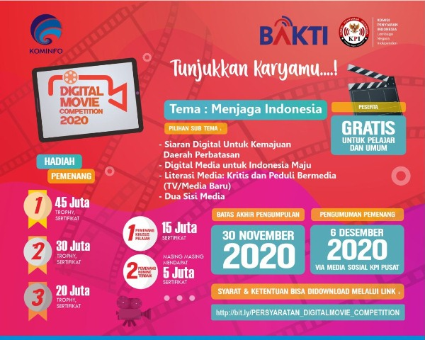 Link Pendaftaran Digital Movie Competition 2020
